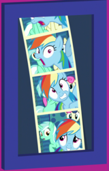Size: 645x1006 | Tagged: bon bon, cropped, grannies gone wild, lyra heartstrings, photobomb, rainbow dash, safe, screencap, spoiler:s08e05, sweetie drops
