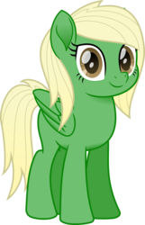 Size: 800x1242 | Tagged: artist:peahead, blonde, brown eyes, female, looking at you, mare, movie accurate, my little pony: the movie, oc, oc only, pegasus, pony, safe, simple background, smiling, solo, transparent background, vector