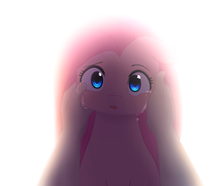 Size: 1200x1000 | Tagged: safe, artist:pinkcappachino, pinkie pie, earth pony, human, pony, bust, comforting, crying, cute, cuteamena, female, hand, looking at you, mare, offscreen character, offscreen human, pinkamena diane pie, portrait, sad, sadorable