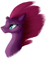 Size: 2875x3613 | Tagged: safe, artist:stormer, tempest shadow, unicorn, my little pony: the movie, broken horn, bust, simple background, transparent background