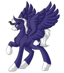 Size: 3793x4377 | Tagged: artist:amazing-artsong, oc, oc:ebony breeze, oc only, pegasus, pony, raised hoof, safe, simple background, socks (coat marking), solo, spread wings, transparent background, wings