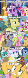 Size: 640x1778 | Tagged: alicorn, applejack, blues, caramel, daisy, diamond cutter, dizzy twister, edit, edited screencap, fame and misfortune, flower wishes, fluttershy, image macro, mane six, meme, noteworthy, orange swirl, parasol, parody, pearly stitch, pinkie pie, rainbow dash, rainbowshine, rarity, roseluck, safe, screencap, spring melody, sprinkle medley, sunshower raindrops, the simpsons, twilight sparkle, twilight sparkle (alicorn), written script