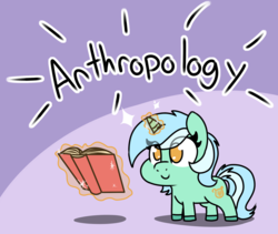 Size: 2310x1954   Tagged: safe, artist:lockheart, lyra heartstrings, fanfic:anthropology, book, cute, magic, purple background, simple background, solo, squatpony