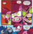 Size: 1075x1106 | Tagged: safe, artist:andypriceart, idw, auntie shadowfall, scarlet petal, earth pony, pony, spoiler:comic, spoiler:comic65, angry, cloak, clothes, comic, cropped, female, glowing eyes, implied princess celestia, mare, nightmare fuel, official comic, offscreen character, scary, speech bubble