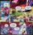 Size: 943x997 | Tagged: safe, artist:andypriceart, idw, auntie shadowfall, princess celestia, princess luna, scarlet petal, starlight glimmer, tiberius, twilight sparkle, winter comet, alicorn, pony, spoiler:comic, spoiler:comic65, adopted offspring, adoption, annoyed, auntie luna, boop, brother and sister, colt, comic, cropped, faic, female, filly, foal, hot air balloon, luna is not amused, magic bubble, male, mare, momlestia fuel, official comic, royal guard, royal sisters, speech bubble, twilight sparkle (alicorn)