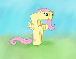 Size: 1720x1340 | Tagged: safe, artist:ultrathehedgetoaster, fluttershy, alphabet, f, not salmon, transformation, wat