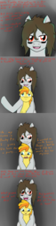 Size: 611x2444 | Tagged: safe, artist:jake heritagu, peachy pie, oc, oc:the colt, earth pony, pony, ask the colt, fanfic:silent ponyville, comic, tumblr