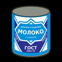 Size: 375x375   Tagged: safe, artist:byteslice, derpibooru, .svg available, can, condensed milk, cyrillic, derpibooru badge, meta, no pony, russian, simple background, svg, transparent background, vector