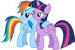Size: 8000x5318 | Tagged: safe, artist:xpesifeindx, rainbow dash, twilight sparkle, alicorn, pony, daring don't, .svg available, absurd resolution, duo, female, mare, simple background, transparent background, twilight sparkle (alicorn), vector
