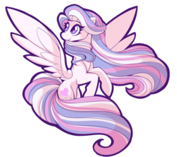 Size: 963x855 | Tagged: artist:uunicornicc, cutie mark, female, g3, g3 to g4, generation leap, mare, pegasus, pony, safe, simple background, smiling, solo, spread wings, star catcher, transparent background, wings