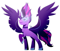Size: 1327x1132 | Tagged: artist:paintcoloryt, equestria girls, equestria girls ponified, horn, looking at you, magic, midnight sparkle, ponified, pony, safe, simple background, transparent background, twilight sparkle, wings