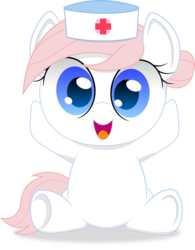 Size: 955x1225 | Tagged: safe, artist:spellboundcanvas, nurse redheart, earth pony, pony, adorable face, adoredheart, chibi, cute, female, heartabetes, looking at you, mare, open mouth, simple background, smiling, smiling at you, solo, transparent background, tubby