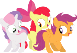 Size: 3587x2479 | Tagged: apple bloom, artist:porygon2z, blank flank, cutie mark crusaders, safe, scootaloo, sweetie belle
