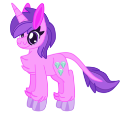 Size: 1438x1345 | Tagged: amethyst star, artist:magnesium--oxide, chest fluff, pony, safe, simple background, solo, sparkler, unshorn fetlocks, white background