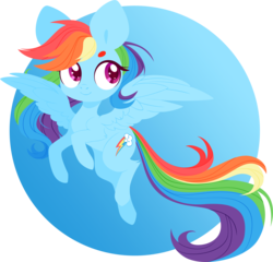 Size: 4000x3845 | Tagged: safe, artist:belka-sempai, rainbow dash, pegasus, pony, cute, cutie mark, dashabetes, female, hooves, lineless, looking away, looking up, mare, simple background, smiling, solo, spread wings, transparent background, wings