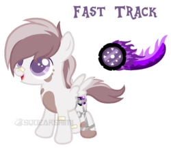 Size: 817x709 | Tagged: safe, artist:squeakshimi, oc, oc:fast track, pegasus, pony, colt, cutie mark, male, offspring, parent:pipsqueak, parent:scootaloo, parents:scootasqueak, simple background, solo, transparent background