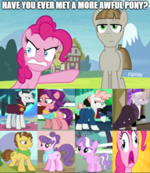 Size: 500x577 | Tagged: safe, edit, edited screencap, screencap, chancellor neighsay, diamond tiara, grand pear, mudbriar, pinkie pie, spoiled rich, suri polomare, svengallop, zesty gourmand, crusaders of the lost mark, rarity takes manehattan, school daze, spice up your life, the mane attraction, the maud couple, the perfect pear, debate in the comments, op has a point, op is a duck, op is trying to start shit, op started shit, somewhat false