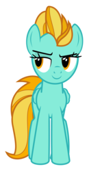 Size: 3253x6236 | Tagged: artist:puetsua, female, lightning dust, mare, pegasus, pony, safe, simple background, smiling, smirk, solo, .svg available, transparent background, vector