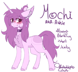 Size: 2067x1928 | Tagged: safe, artist:honeybbear, oc, oc:mochi, pony, unicorn, chest fluff, choker, female, mare, reference sheet, solo