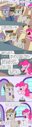 Size: 1000x4000 | Tagged: safe, artist:bjdazzle, maud pie, mudbriar, pinkie pie, the maud couple, barrel, comic, derp, diagram, female, hypocrisy, hypocritical humor, lol, male, maudbriar, revenge, season 8 homework assignment, self deprecation, shipping, speechless, straight, stuttering, technically