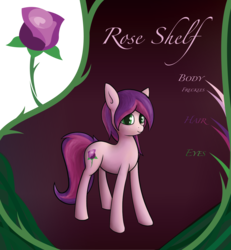 Size: 2201x2382 | Tagged: safe, artist:deerdraw, oc, oc only, oc:rose shelf, earth pony, pony, cutie mark, female, freckles, looking at you, reference, reference sheet, smiling, solo