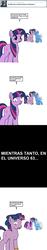 Size: 600x3203 | Tagged: safe, artist:dekomaru, trixie, twilight sparkle, pony, unicorn, tumblr:ask twixie, ask, comic, dusk shine, dusktan, female, gay, lesbian, male, rule 63, shipping, spanish, translation, tristan, tumblr, twixie