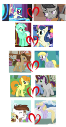 Size: 900x1725 | Tagged: safe, edit, edited screencap, screencap, bon bon, carrot top, derpy hooves, dinky hooves, dj pon-3, doctor whooves, golden harvest, lyra heartstrings, octavia melody, pipsqueak, sweetie drops, time turner, vinyl scratch, written script, earth pony, pegasus, pony, unicorn, .svg available, colt, dinkysqueak, doctorderpy, female, filly, foal, goldenscript, heart, hooves, horn, lesbian, lyrabon, male, mare, open mouth, scratchtavia, shipping, shipping chart, shipping domino, smiling, stallion, straight, sunglasses, svg, vector, wings