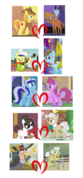 Size: 900x1916 | Tagged: beauty brass, berrygate, berry punch, berryshine, braeburn, braeheart, crack shipping, edit, edited screencap, female, fiddlebrass, fiddlesticks, grampa gruff, granny smith, heart, lesbian, little strongheart, male, mayor mare, minuette, safe, screencap, shipping, shipping domino, smithgruff, straight, svg, .svg available, vector, writing desk, writingmayor
