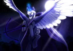 Size: 6720x4760   Tagged: safe, artist:skylacuna, alicorn, pony, absurd resolution, glowing eyes, magic, male, orion (constellation), ponified, solo, stallion, subsurface scattering