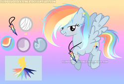 Size: 1024x691 | Tagged: safe, artist:sleppchocolatemlp, oc, oc:color rain, pegasus, pony, female, mare, offspring, parent:rainbow dash, parent:soarin', parents:soarindash, reference sheet, solo
