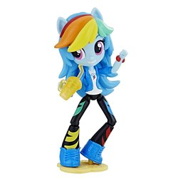 Size: 1500x1500   Tagged: safe, rainbow dash, equestria girls, equestria girls series, clothes, doll, equestria girls minis, irl, jacket, pants, photo, ponied up, shoes, solo, toy