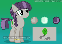 Size: 1024x725 | Tagged: artist:sleppchocolatemlp, earth pony, female, mare, oc, oc:rock sheet, offspring, parent:maud pie, parent:mud briar, parents:maudbriar, pony, reference sheet, safe, solo