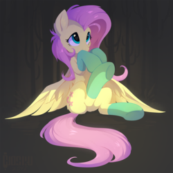 Size: 1279x1280 | Tagged: dead source, safe, artist:hioshiru, fluttershy, pegasus, pony, cactus, cheek fluff, clothes, covering mouth, cute, daaaaaaaaaaaw, ear fluff, female, fluffy, gray background, heart eyes, hioshiru is trying to murder us, hnnng, leg fluff, looking up, mare, puppy dog eyes, shoulder fluff, shy, shyabetes, simple background, sitting, smiling, socks, solo, spread wings, sweet dreams fuel, tree, underhoof, weapons-grade cute, wingding eyes, wings
