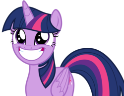 Size: 4603x3559 | Tagged: safe, artist:sketchmcreations, twilight sparkle, alicorn, pony, horse play, adorkable, cute, dork, eye shimmer, faic, female, grin, happy, looking up, mare, simple background, smiling, solo, squee, transparent background, twilight sparkle (alicorn), vector