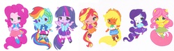 Size: 3852x1136 | Tagged: safe, artist:ocean-drop, applejack, fluttershy, pinkie pie, rainbow dash, rarity, sunset shimmer, twilight sparkle, equestria girls, applejack's hat, boots, bowtie, clothes, compression shorts, cowboy hat, cute, dashabetes, denim skirt, diapinkes, dress, hat, humane five, humane seven, humane six, jackabetes, jacket, leg warmers, ponied up, raribetes, shimmerbetes, shirt, shoes, shorts, shyabetes, simple background, skirt, socks, stetson, twiabetes, white background