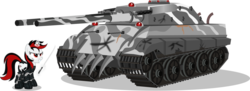 Size: 1480x539 | Tagged: safe, artist:vector-brony, oc, oc only, oc:blackjack, oc:deus, fallout equestria, simple background, sword, tank (vehicle), transparent background, weapon