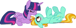 Size: 1024x376 | Tagged: safe, artist:darvko, lightning dust, twilight sparkle, alicorn, blushing, crack shipping, female, kissing, lesbian, shipping, simple background, transparent background, twidust, twilight sparkle (alicorn)