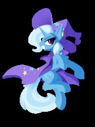 Size: 3000x4000 | Tagged: safe, artist:l8lhh8086, trixie, pony, unicorn, cape, clothes, female, grin, hat, mare, simple background, smiling, solo, transparent background, trixie's cape, trixie's hat