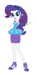 Size: 353x719 | Tagged: safe, artist:amethystmajesty25, rarity, equestria girls, equestria girls series, bracelet, clothes, cute, dress, female, hand on butt, high heels, jewelry, looking at you, open mouth, raribetes, shoes, simple background, solo, transparent background