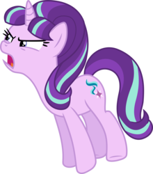 Size: 4706x5358 | Tagged: absurd res, artist:hendro107, pony, safe, simple background, solo, starlight glimmer, the cutie re-mark, transparent background, vector