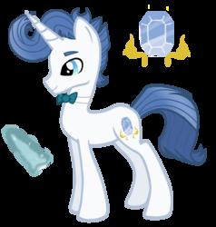 Size: 1641x1725   Tagged: safe, artist:spectrumnightyt, oc, oc:spectrum night, pony, unicorn, bowtie, cutie mark, magic, male, offspring, parent:fancypants, parent:rarity, parents:raripants, simple background, solo, stallion, transparent background