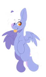 Size: 2162x3601 | Tagged: safe, artist:hellishprogrammer, oc, oc only, oc:silver star, pegasus, pony, high res, male, one eye closed, simple background, solo, stallion, transparent background, wink