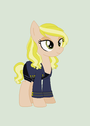 Size: 386x538 | Tagged: artist:obeliskgirljohanny, artist:selenaede, base used, clothes, earth pony, jacket, kate moss, oc, ponified, pony, ponysona, safe