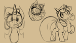 Size: 1080x607 | Tagged: alicorn, artist:niggerdrawfag, derpibooru exclusive, lineart, monochrome, pony, raised hoof, safe, sketch, solo, twilight sparkle, twilight sparkle (alicorn)