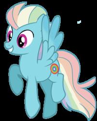 Size: 1961x2442 | Tagged: safe, artist:unicorn-mutual, oc, pegasus, pony, magical lesbian spawn, male, offspring, parent:fleetfoot, parent:rainbow dash, parents:fleetdash, simple background, solo, stallion, transparent background