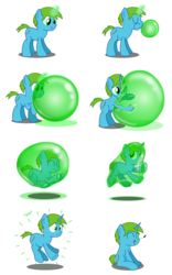 Size: 4500x7200 | Tagged: absurd res, artist:bladedragoon7575, blowing bubbles, bubble, floating, glowing horn, happy, in bubble, magic, magic bubble, oc, oc:balance blade, pony, safe, sequence, simple background, telekinesis, transparent background, unicorn