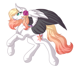 Size: 4385x3985 | Tagged: artist:amazing-artsong, female, gift art, mare, oc, oc:ember, oc only, pegasus, pony, safe, simple background, smiling, solo, transparent background