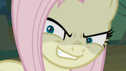 Size: 1920x1080 | Tagged: safe, screencap, mean fluttershy, pegasus, pony, the mean 6, adoracreepy, clone, crazy face, creepy, cute, everfree forest, evil grin, faic, female, flutterbitch, grin, mare, pure unfiltered evil, rapeface, shyabetes, smiling
