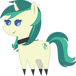 Size: 1295x1293 | Tagged: safe, artist:dashfire61, oc, oc only, oc:spring starflower, earth pony, pony, unicorn, choker, clothes, cute, female, pointy ponies, simple background, socks, solo, trans girl, transgender, transparent background