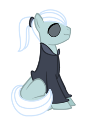 Size: 1020x1332 | Tagged: artist:moonlightthegriffon, base used, batou, ghost in the shell, male, ponified, pony, safe, simple background, sitting, solo, stallion, transparent background